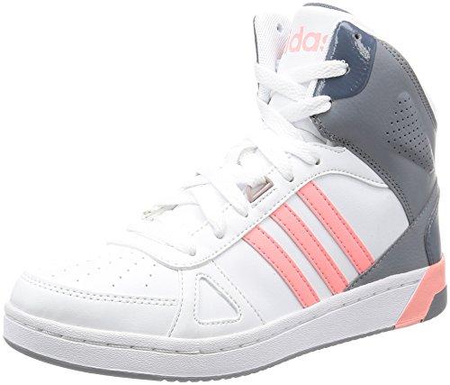 adidas Hoops Team Mid W, Zapatillas de Deporte Interior Para Mujer Blanco (White)