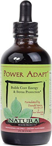 Natura Health Products - Power Adapt - Potent Energy Tonic Optimizes Adrenal Function; Builds Strength, Stamina, and Stress Protection - 4 Fluid Ounces by Natura Health Products
