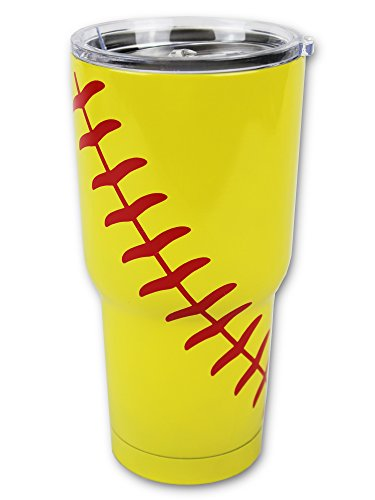 Softball Tumbler 30oz Gift for Mom Men Women Mothers Day Birthday (Softball)