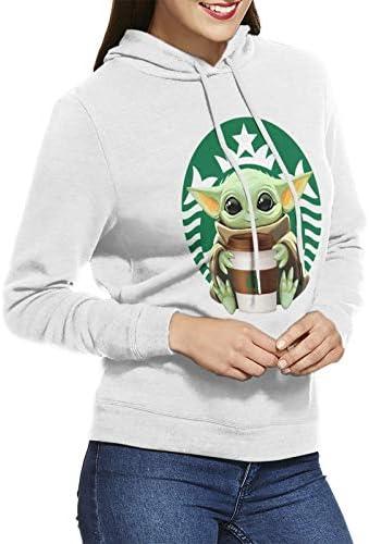 Fvqp Baby Yoda Women Fashion Hoodies Pocketless Short Sleeve Sweater Casual Sweatshirt