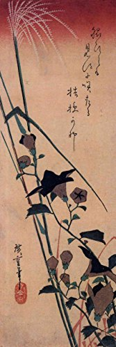 The Museum Outlet - Chinese bell flower and reed by Hiroshige - Poster Print Online Buy (24 X 18 - Chinese Bell Flower