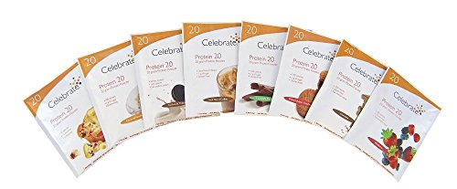 Peanut Swirl Chocolate Butter (Celebrate Protein Shake 20 - Variety Pack - 16 Single Serve Packs)