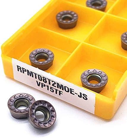 10PCS RPMT08T2 MO VP15TF Carbide Insert RPMT 08T2 Planfräser-Drehmaschine CNC-Fräsen Werkzeuge Fräswerkzeug Drehen