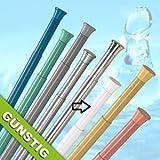 qualité barre pour rideau de douche 75 - 120 cm ALU blanche barre télescopique!