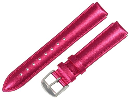 Clockwork Synergy® - 18mm x 15mm - Metallic Pink Interchangeable Watch Band Strap Fits Philip Stein Small