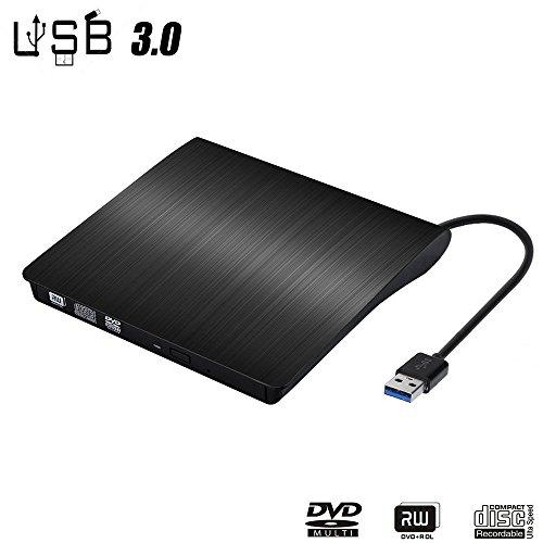 External DVD Drive,USB 3.0 Ultra Portable External CD DVD Storage Drive, External DVD Writer/ Burner CD DVD RW (Dell Blu Ray Laptop Drive)