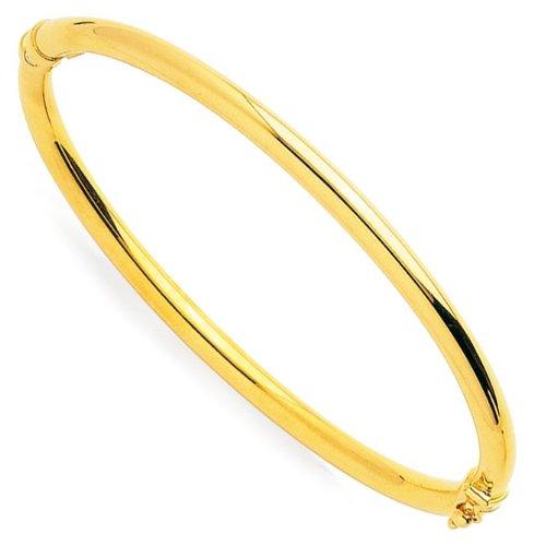 Orleo - REF3586BB : Bracelet Femme Or 9K jaune - Jonc Ouvrant