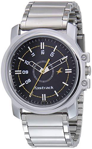 Fastrack Economy Analog Black Dial Men's Watch NM3039SM02/NN3039SM02