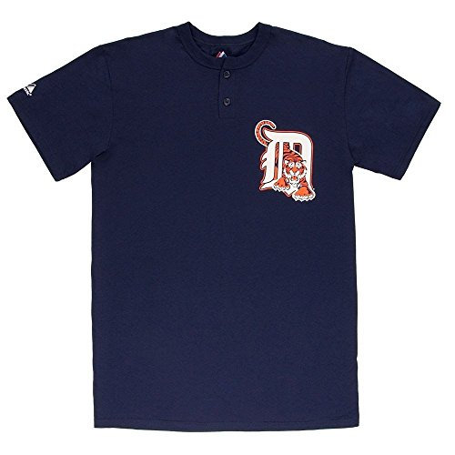 (Majestic Athletic MLB Detroit Tigers Two Button Men's Jersey Shirt (Small))