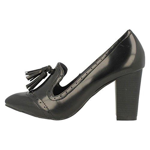 Damen High Heel Schuhe SpotOn Loafer Schwarz
