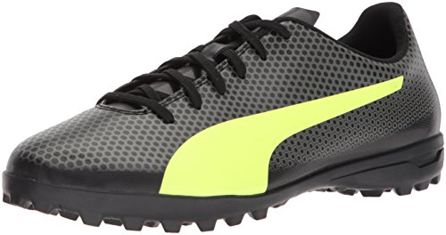 PUMA Men's Spirit Turf Trainer Soccer Shoe, Black-Fizzy Yellow-Castor Gray, 10.5 M US (Soccer Shoes Trainers)
