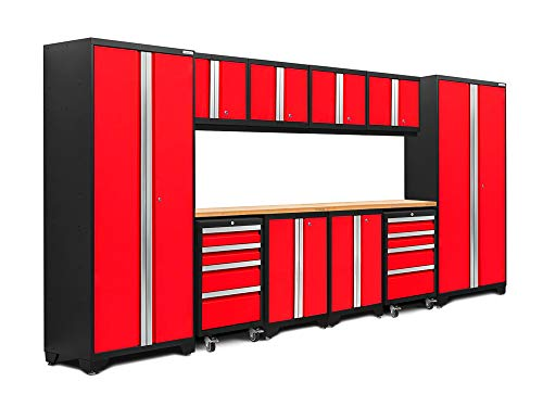 NewAge Products Bold 3.0 Red 12 Piece Set, Garage Cabinets, 50610 - System Cabinet Set Storage