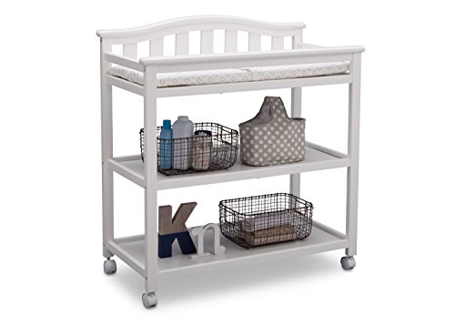Delta Children Bell Top Changing Table with Casters, White by Delta Children (Image #3)