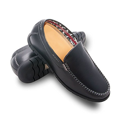 ZERIMAR Height increasing elevator shoes for men.Add +2,4 inches to your height. Quality 100% leather shoes. Made in Spain(Black, 40 EU/US 8 ) by Zerimar