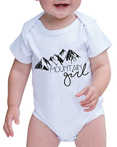 7 ate 9 Apparel Babys Mountain Girl Outdoors Onepiece 0-3 Months Black