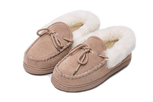 Pantofole pelle di pecora Mocassino DI LUSSO
