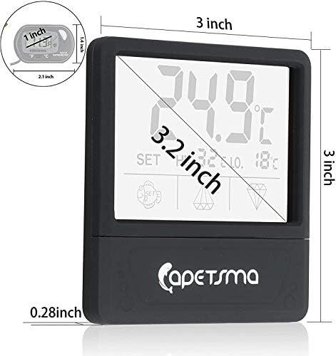 Mini Termómetro digital para acuario pantalla táctil 6