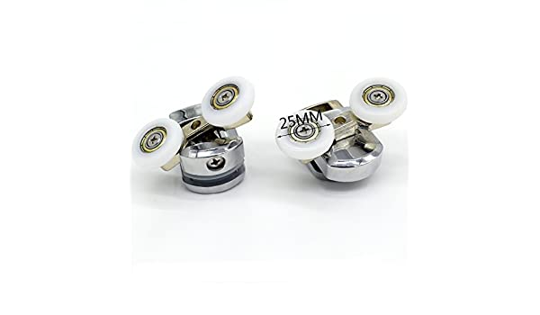 Repuesto ruedas para mampara de ducha cromo – 2 x diámetro de 25 ...