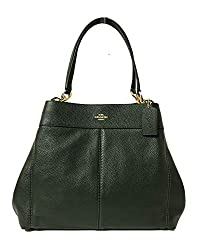 Coach F57545 Lexy Pebble Leather Shoulder Bag Im Ivy