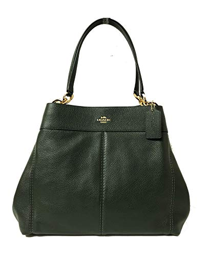 Leather Coach - Coach F57545 Lexy Pebble Leather Shoulder Bag (IM/Ivy)