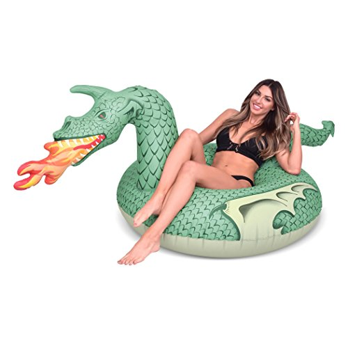 GoFloats Fire Dragon Party Tube Inflatable Raft, Set Your Summer on Fire (for Adults and -