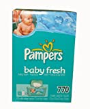 : Pampers Baby Wipes Refills, Baby Fresh Scent, 770 Wipes