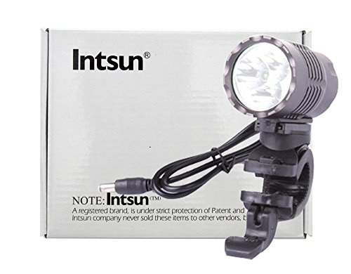Intsun® 1800Lm 3X CREE XPG-R5 LED Bicycle Light + 4400mAh Rechargeable Battery Pack