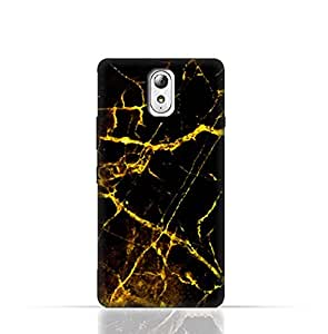 Lenovo Vibe P1m TPU Silicone Case With Dark Grey Marble Texture Design.