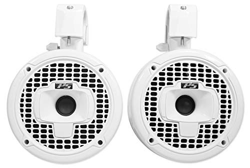 Power Sports Sport6-W Marine Wakeboard Tower Speakers, White