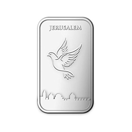 Israel 1 oz. Pure Silver Bar .999 The Holy Land Mint Bullion Bars Collectible Bar