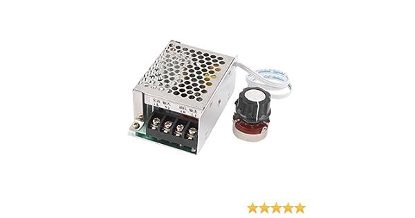 sourcingmap AC220V 4000W Termostato Regulador de Voltaje de SCR, Controlador de Velocidad del Motor atenuadores: Amazon.es: Industria, empresas y ciencia