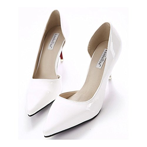 36 Middle Pointed Shoes Women Shoes Heel white Thin 0wZaxqa