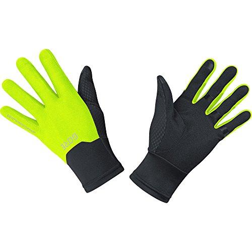 GORE WEAR Men's Waterproof Bike Gloves, C5 Gore-TEX Gloves, Size: L, Color: Black/neon Yellow, 100115