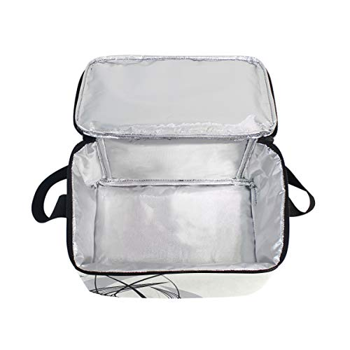 06e433ac29ec Amazon.com: DoubleCW Dragonfly Insulated Lunch Box Reusable Lunch ...