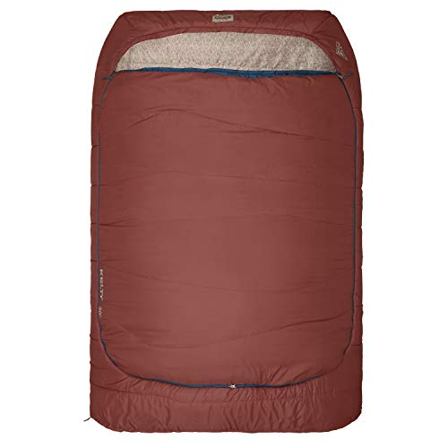 Kelty Tru.Comfort Doublewide 20 Degree Sleeping Bag - Two Person Synthetic Camping Sleeping Bag for Couples & Family Camping - Stuff Sack Included