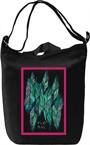 Floral Collage Borsa Giornaliera Canvas Canvas Day Bag  100% Premium Cotton Canvas  DTG Printing 