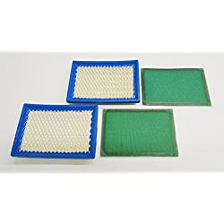 2 Pack, 2 Air Filters Plus 2 Pre-Filters For Brigg