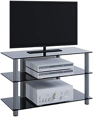 VCM Sindas-Mueble para TV, Cristal de Color Negro, Aluminio ...