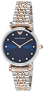Emporio Armani Women's Quartz Watch analog Display and Stainless Steel Strap, AR11092
