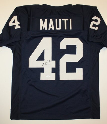 Michael Mauti Signed / Autographed Navy Blue Jersey- JSA Authenticated by The Jersey Source Autographs