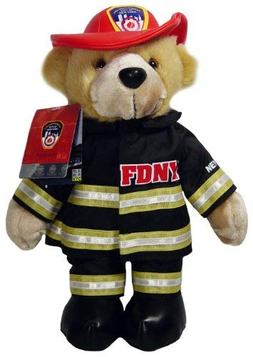 FDNY Teddy Bear Stuffed Animal Officially Licensed by The New York City Fire Department - Firefighter Teddy Bear