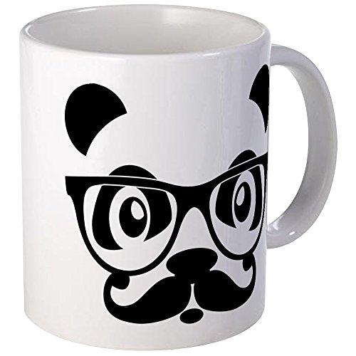CafePress - Nerd Panda With Moustache And Glasses Mug - Unique Coffee Mug, Coffee Cup (Coffee Mug Moustache)