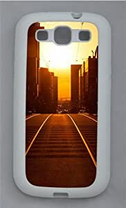 Sunset Cityscapes TPU Silicone Rubber Case Cover for Samsung Galaxy S3 SIII I9300 White