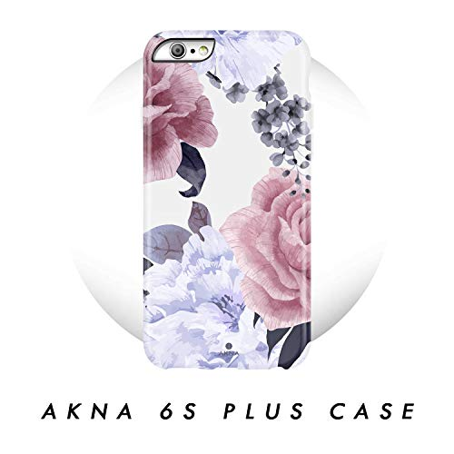 iPhone 6 Plus / 6s Plus case Flower, Akna Collection Flexible Silicon Cover for Both iPhone 6 Plus & 6s Plus [Floral Peony](789-U.S)