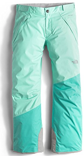 The North Face Freedom Insulated Girls Ski Pants - Medium/Ice Green by The North Face