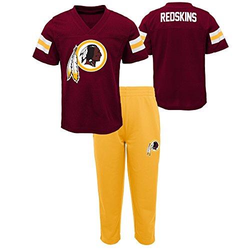 Outerstuff NFL NFL Washington Redskins Kids Training Camp Short Sleeve Top & Pant Set Burgundy, Kids Small(4)