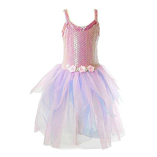 Sequin Pink & Lilac Dress Medium - Dress-Up by My Princess Academy (Monster Energy Halloween Costumes)