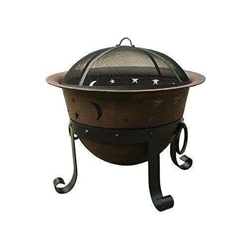 Catalina Creations 29 Inch Heavy Duty Cast Iron Celestial Cauldron Patio