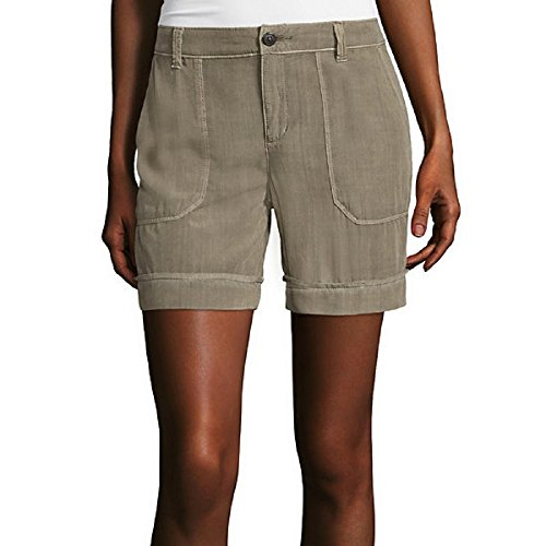 Liz Claiborne Patch-Pocket Cargo Shorts Size 6 (Liz Claiborne Womens Shorts)