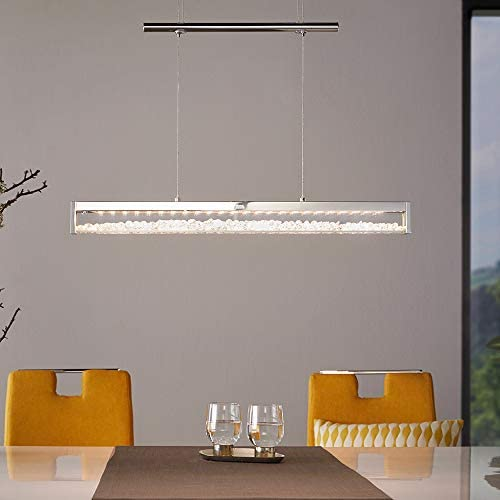 EGLO Pendant Lamp, Aluminium, Steel, 24 W, Chrome